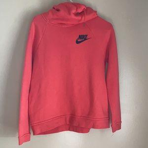 Pink Nike Cowl Neck Sweatshirt
